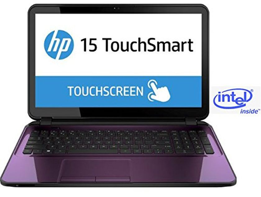 """HP Touchsmart 15 Sleek PC in Purple Intel Quad Core up to 2.66GHz 4GB 1TB 15.6"""" Touch WLED DVD+/-RW HDMI (Certified Refurbished)"""