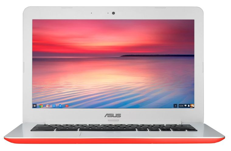 ASUS Chromebook 13-Inch HD with Gigabit WiFi, 16GB Storage & 2GB RAM (Red)