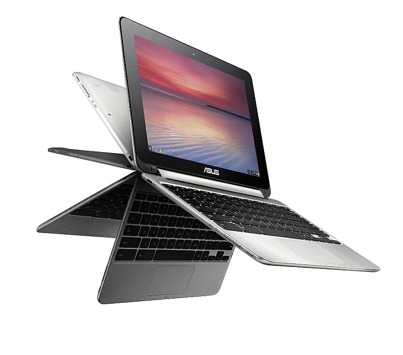 ASUS Chromebook Flip 10.1-Inch Convertible 2 in 1 Touchscreen (Rockchip, 2 GB, 16GB SSD, Silver)
