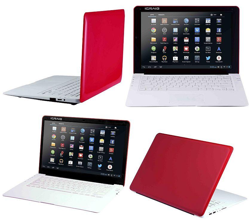 "Craig Electronics 14"" Netbook 4 GB Dual Core HD Screen Powered Slimbook, Red CLP290 RD"