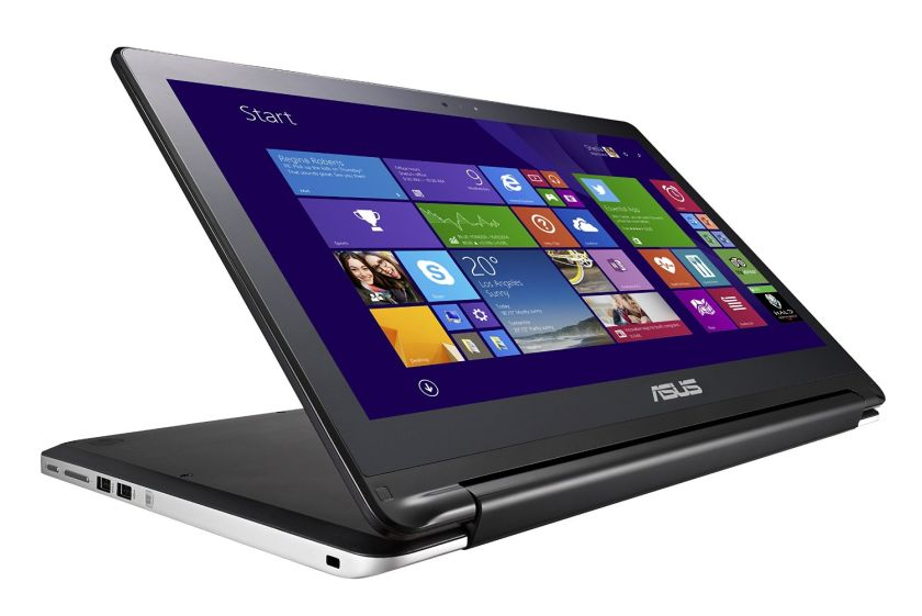 ASUS Flip 2 in 1 15.6 Inch Laptop (Intel Core i5, 8 GB, 1TB HDD, Black, Silver) - Free Upgrade to Windows 10