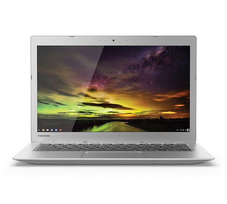 Toshiba CB35-B3340 13.3 Inch Chromebook (Intel Celeron, 4GB, 16GB SSD, Silver) Full HD-Screen