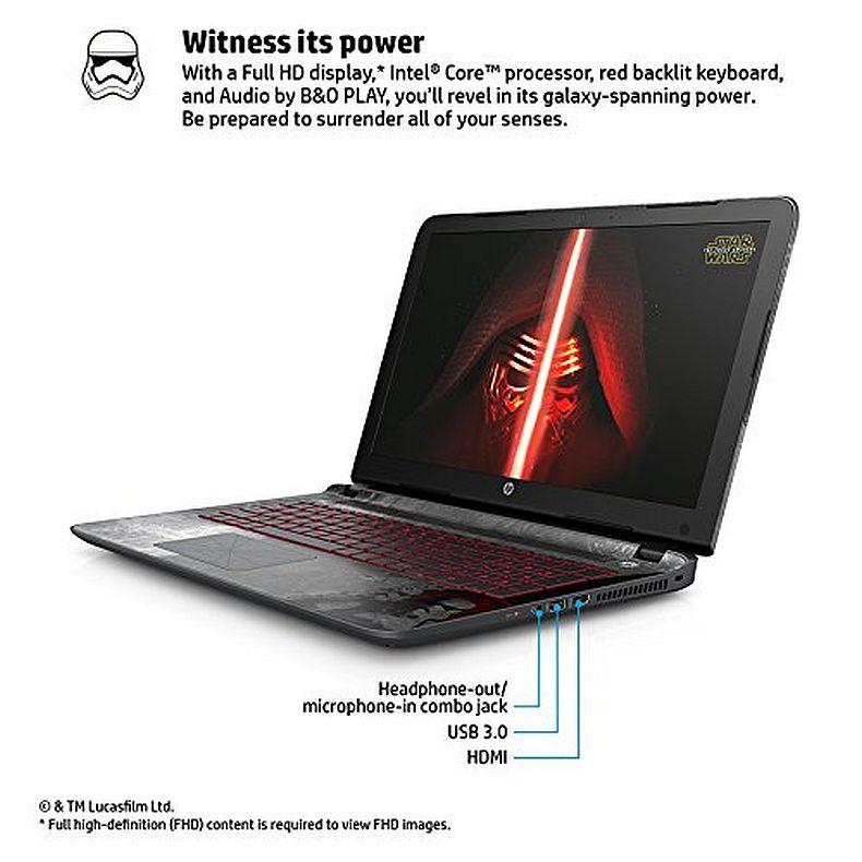 HP Star Wars Special Edition 15-an050nr 15.6-Inch Laptop (Intel Core i5, 6 GB RAM, 1 TB HDD)