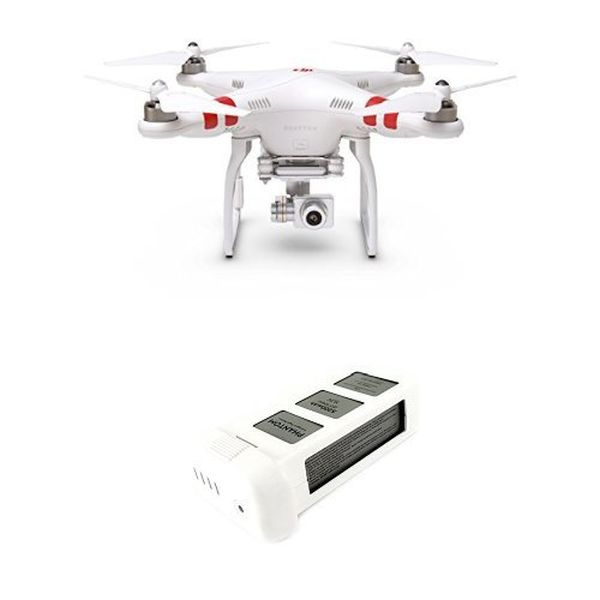 DJI Phantom 2 Vision+ V3.0 Quadcopter with FPV HD Video Camera, 3-Axis Zenmuse H3-3D Gimbal, and Spare Battery