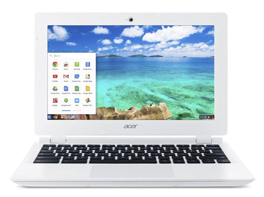 Acer Chromebook, 11.6-Inch, CB3-111-C670 (Intel Celeron , 2GB, 16GB SSD, White)