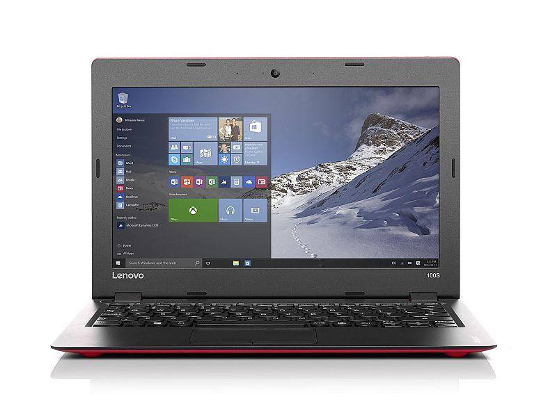 "Lenovo - IdeaPad 100s 11.6"" Laptop / Intel Atom Z3735F/ 2GB Memory / 32GB eMMC Flash Memory / Webcam / Windows 10- Red"