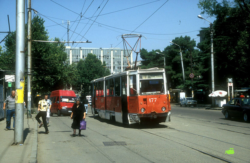 Tbilisi Tram Nr 7 (Isaani Line) KTM -5 car
