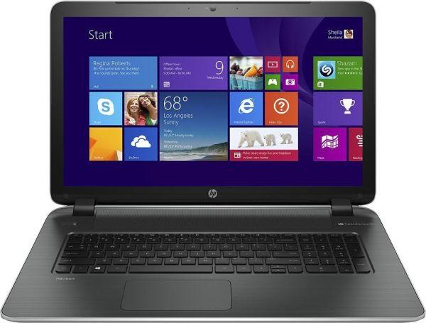 HP 17-f113dx Pavilion Laptop Computer / 17.3-inch Display Screen / Intel® CoreTM i5-4210U Dual-core 2.7GHz Processor / 4GB DDR3L SDRAM / 750GB Hard Drive / DVD±RW/CD-RW Dual Layer / Webcam / USB 3.0 / HDMI / 4-cell Battery / Windows 8.1 / Natural Silver/Ash Silver