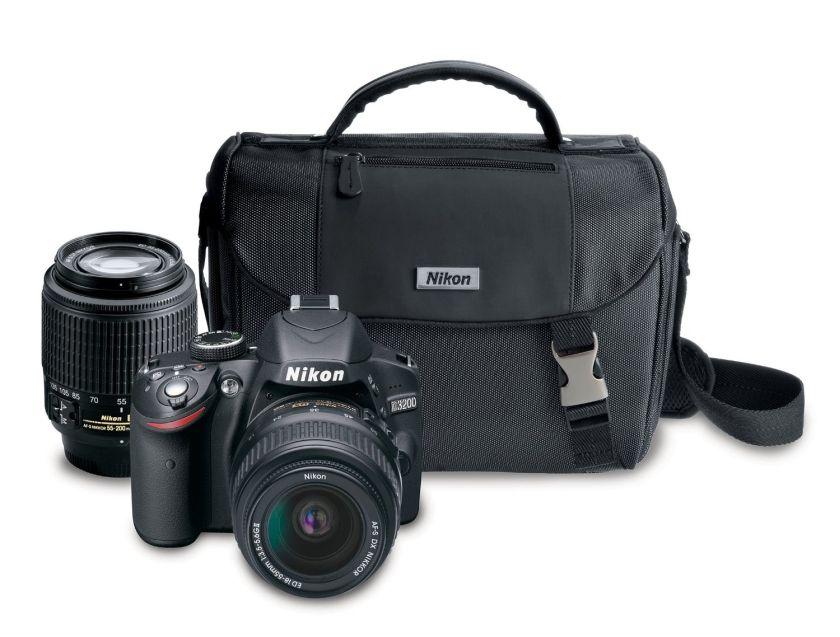 Nikon D3200 24.2 MP CMOS Digital SLR Camera with 18-55mm and 55-200mm Non-VR DX Zoom Lenses Bundle