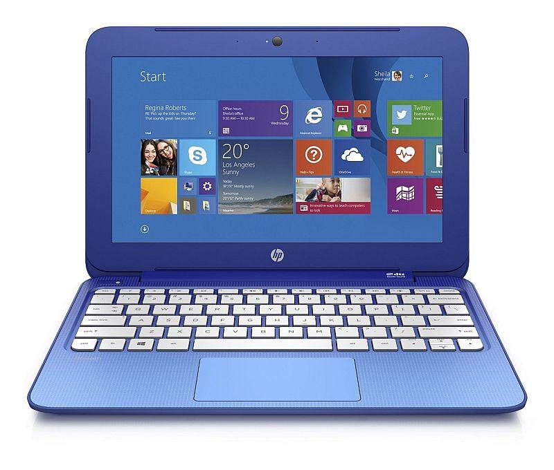 HP Stream 11.6 inch Laptop, Intel N2840 2.16GHz Dual-Core, 2GB DDR3L, 32GB Solid State Drive, Windows 8.1, Blue (Certified Refurbished model # 11-D010WM.