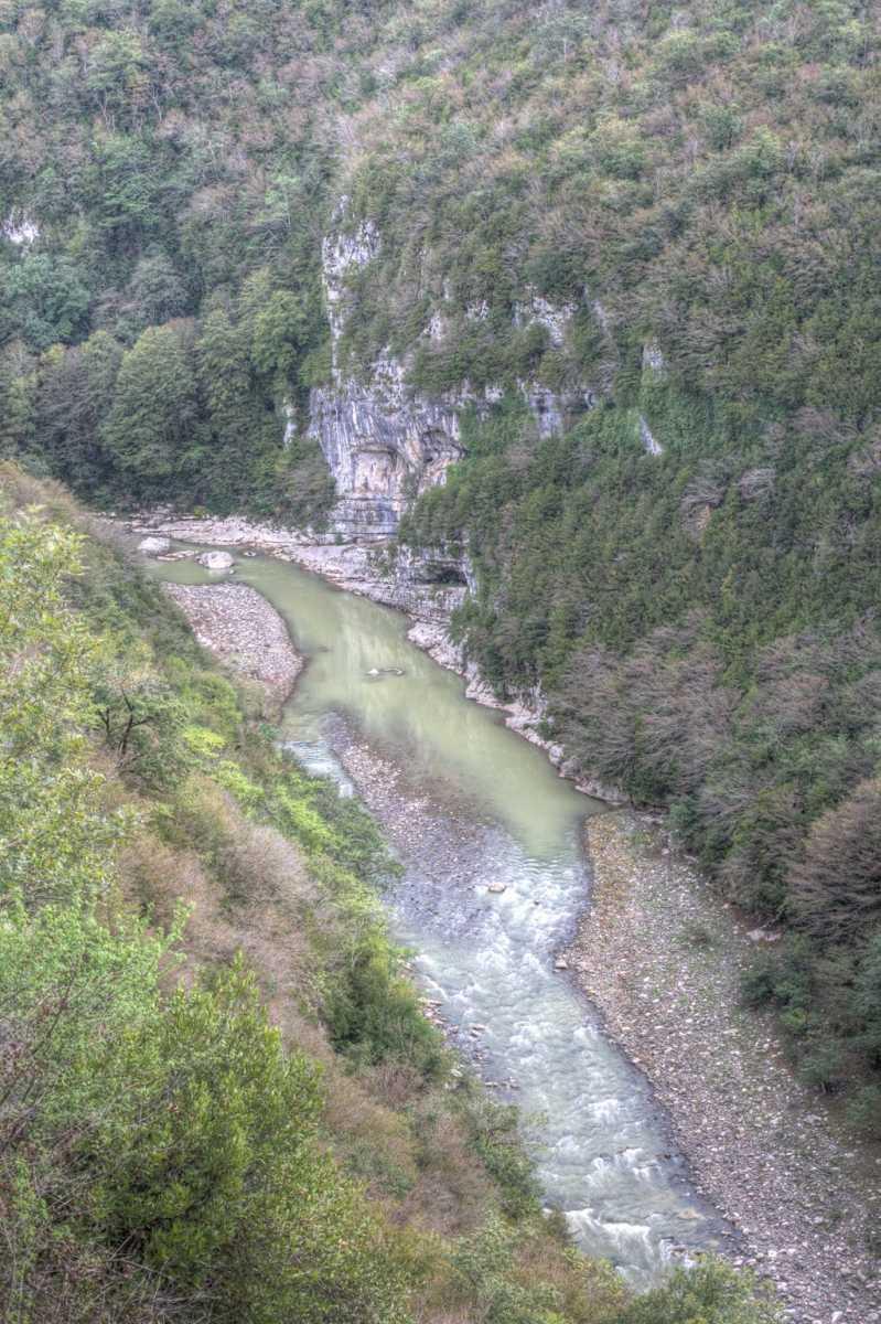 Gorge on Tskatsitela river near Motsameta monastery