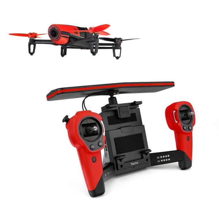 Parrot PF725100 BeBop Drone 14 MP Full HD 1080p Fisheye Camera SkyController Bundle (Red)