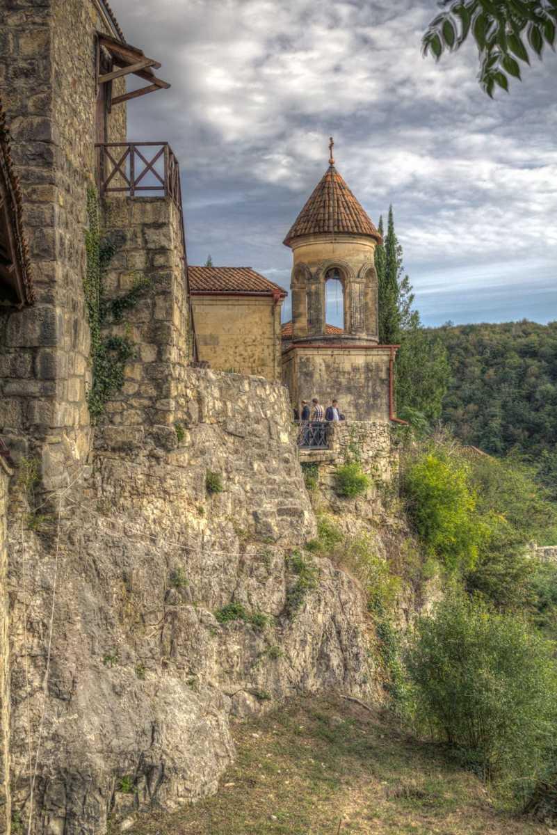 Rear view of Motsameta monastery complex