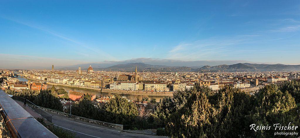 Panoramic view towards Florence