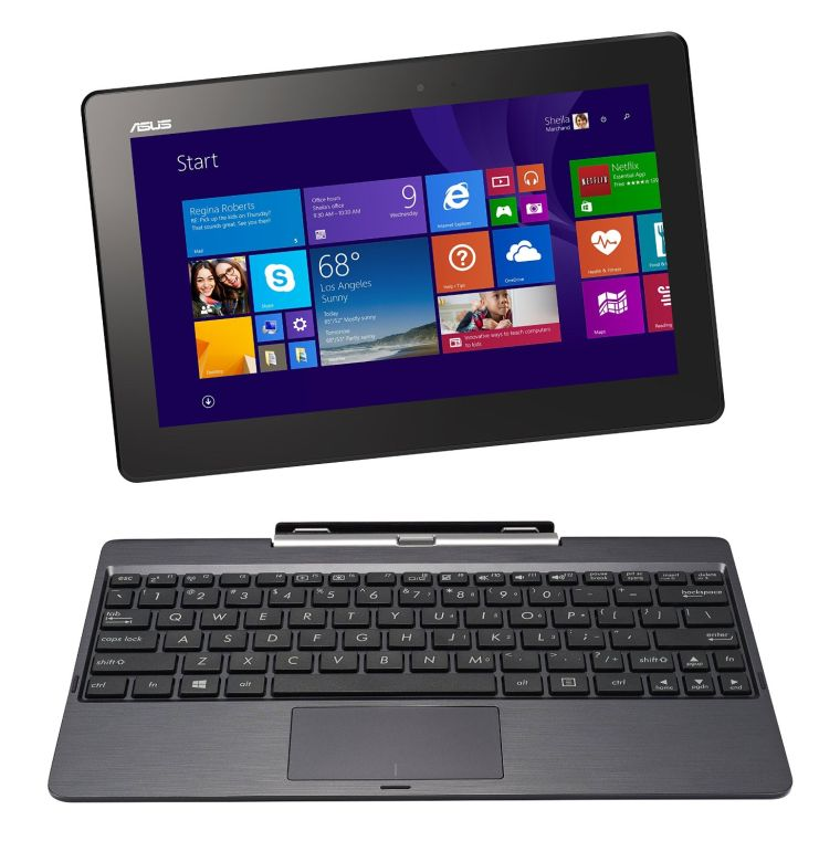 """ASUS Transformer Book 10.1"""" Detachable 2-in-1 Touch Laptop, 32GB Only Edition (Grey)"""