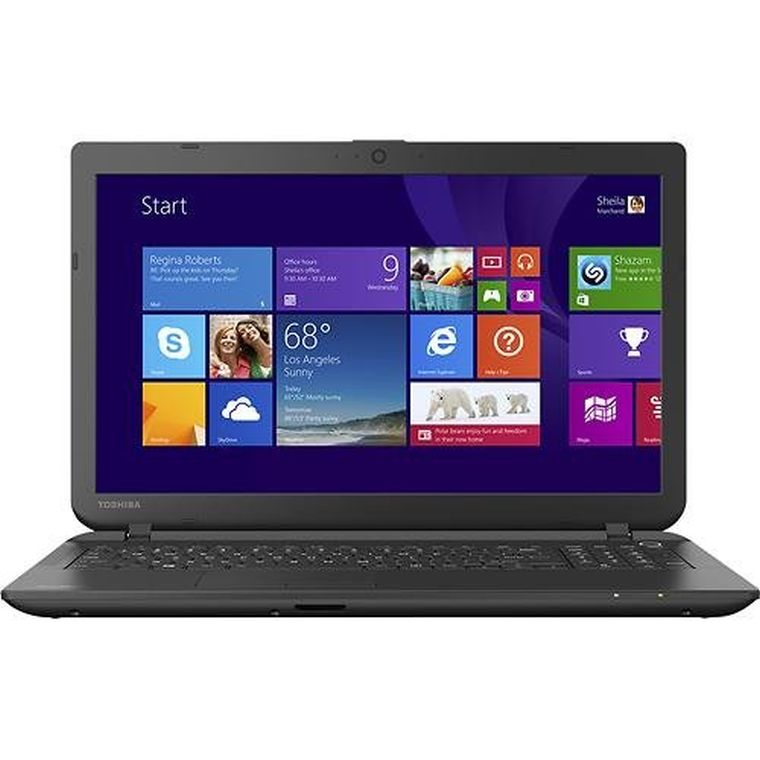 "Toshiba Satellite C55-B5100 15.6"" Laptop PC -Intel Celeron / 4GB Memory / 500GB HD / DVD±RW/CD-RW / Webcam / Windows 8.1 64-bit"