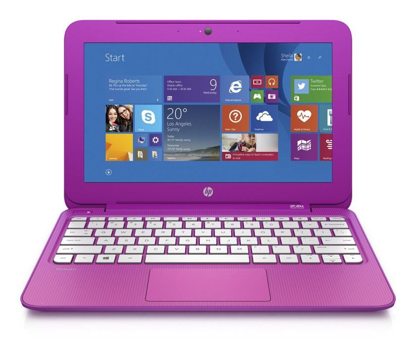 HP Stream 11.6 Inch Laptop (Intel Celeron, 2GB, 32GB eMMC, Orchid Magenta) Includes Office 365 Personal for One Year