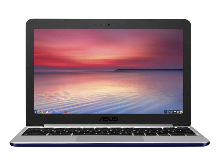 ASUS C201 11.6 Inch Chromebook (Rockchip 3288, 2GB, 16GB SSD, Navy Blue)