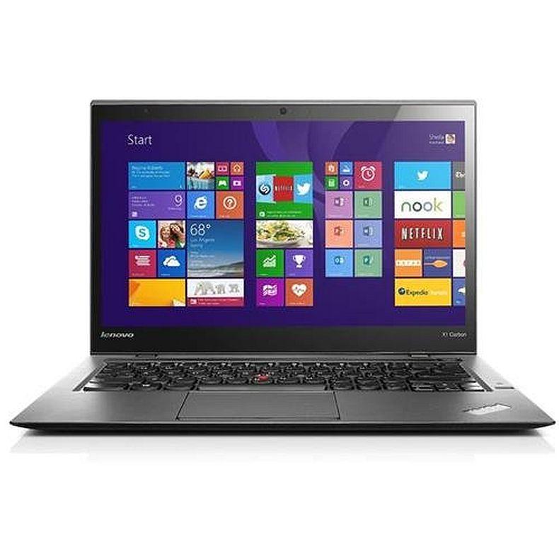 Lenovo Thinkpad X1 Carbon 14-Inch Quad HD Touchscreen Ultrabook Computer (Intel Core i7-4600U 8GB RAM 180GB SSD Windows 8.1) Black