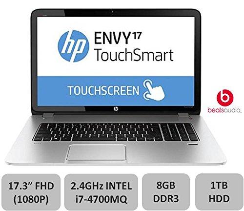 "HP 17.3"" Envy Touchsmart Laptop - 17.3-inch FULL HD Touchscreen, 4th Gen Intel i7-4700MQ 2.4GHz Processor, 8GB DDR3, 1TB HDD, DVDRW, Beats Audio, Backlit Keyboard, Window 8.1"