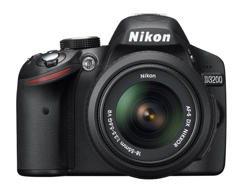 Nikon D3200 24.2 MP CMOS Digital SLR with 18-55mm f/3.5-5.6 Auto Focus-S DX VR NIKKOR Zoom Lens (Black)
