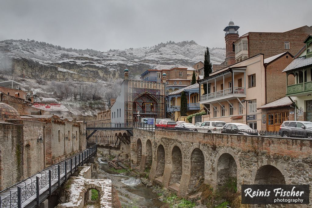 Tbilisi in Winter - Old canal near sulfur bathhouses