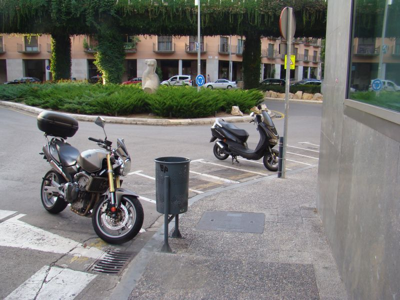 Scooters on streets of Girona