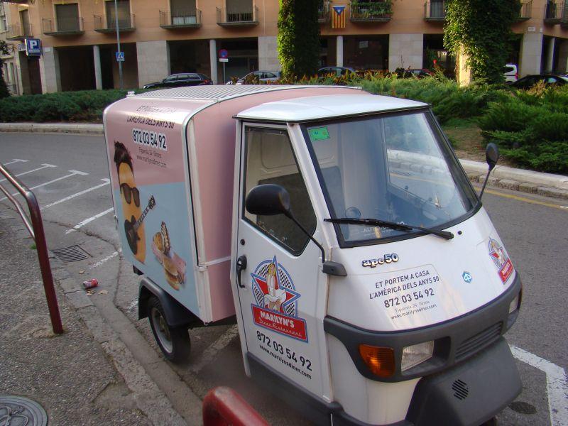 Funny Vehicle on streets of Girona