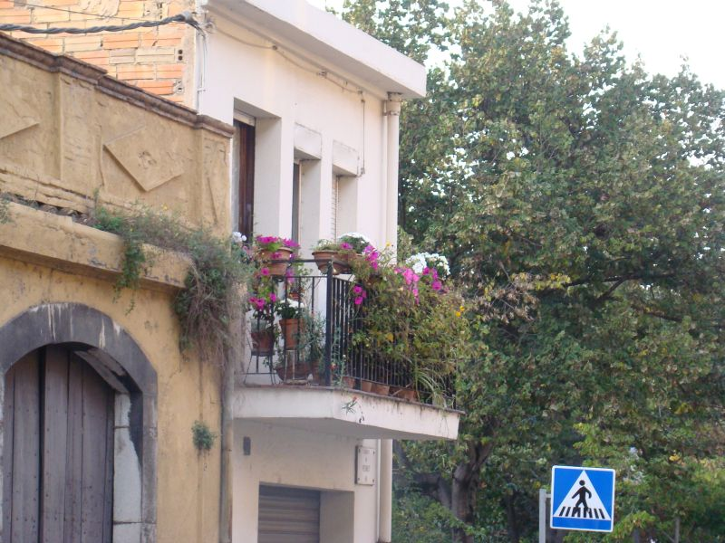 Balcony with flowers at Girona