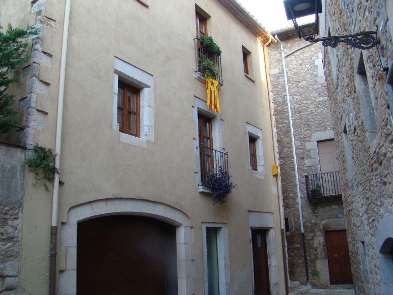 Backyard of Girona's street