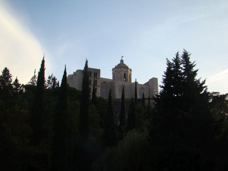 Cathedral of Girona from distance