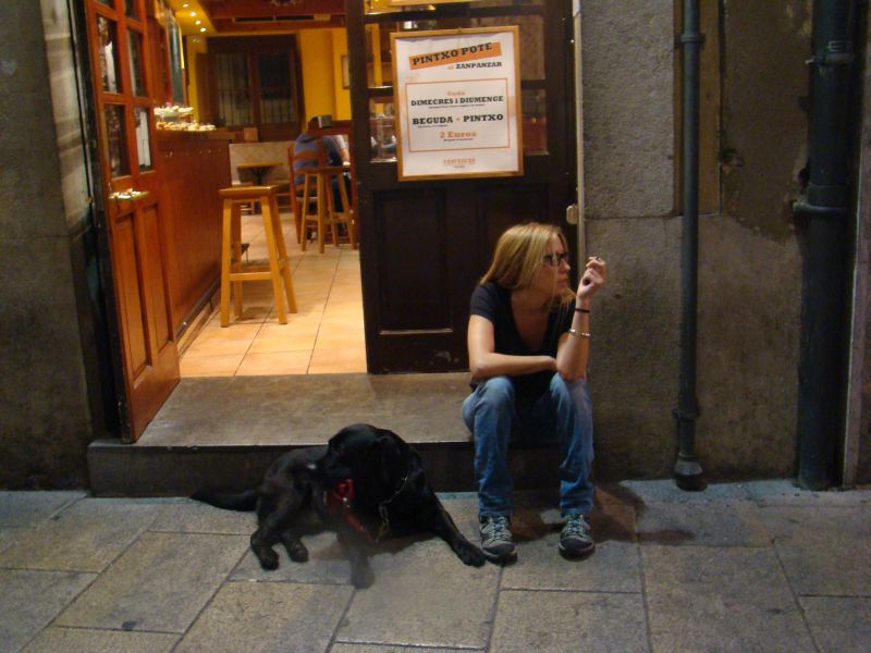 Chillin' on Medieval streets of Girona