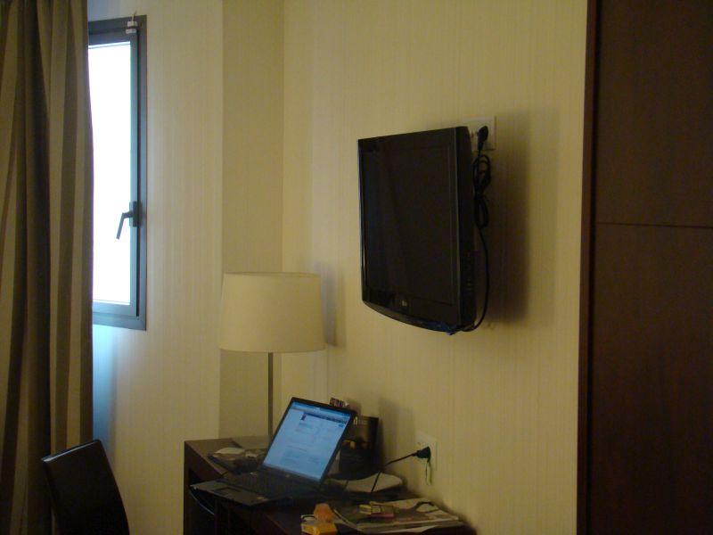 Flat Screen TV at Ultopia hotel Girona