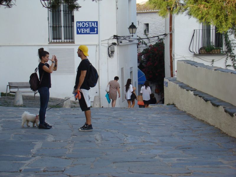 People on streets of Cadaques