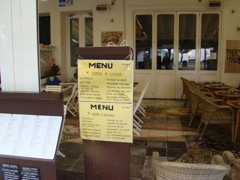 Restaurant at Cadaques