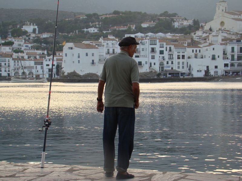 Fisherman with cigar