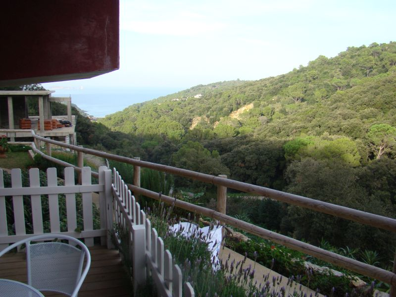 View to mountains and bay from balcony