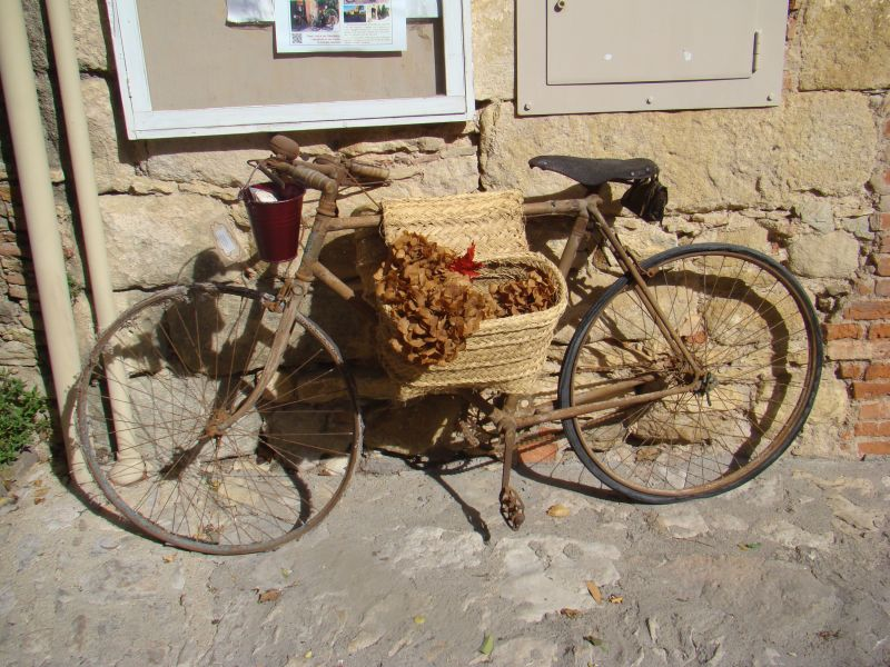 Bycyle on streets of Peratallada