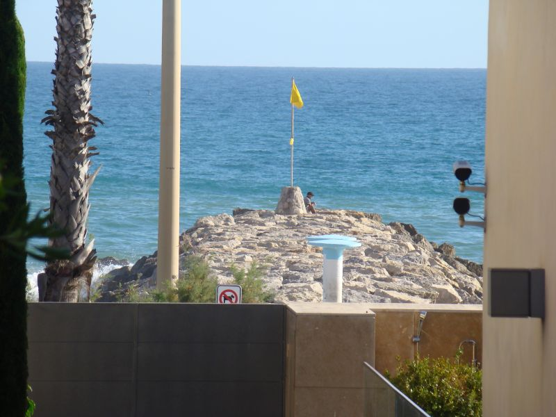 Seaside view from hotel Globos at Sitges