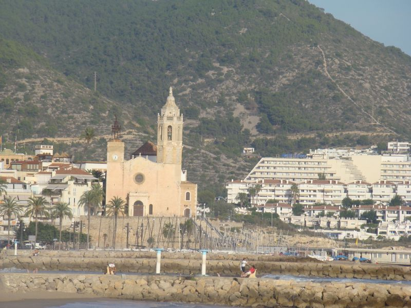View to cathedral of Sitges