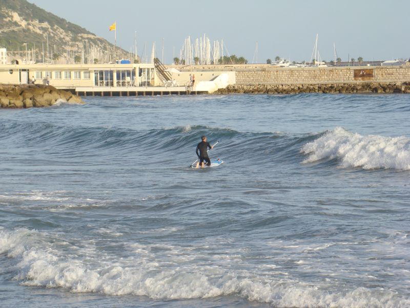 Surfers learn to surf
