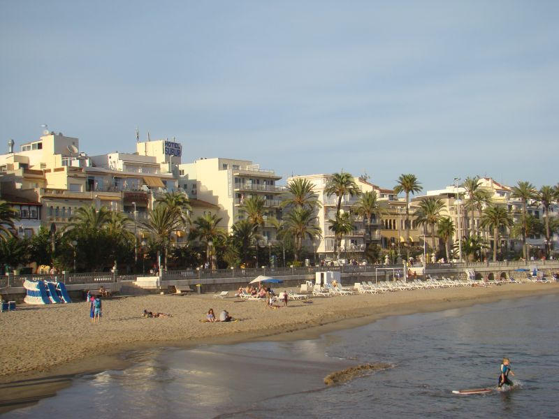View to Sitges from bay