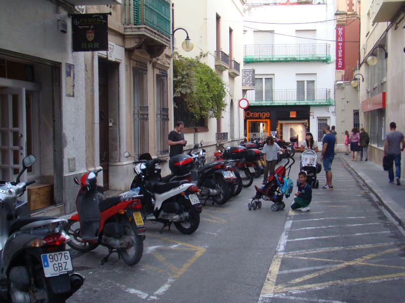 Rollers on the streets of Sitges town