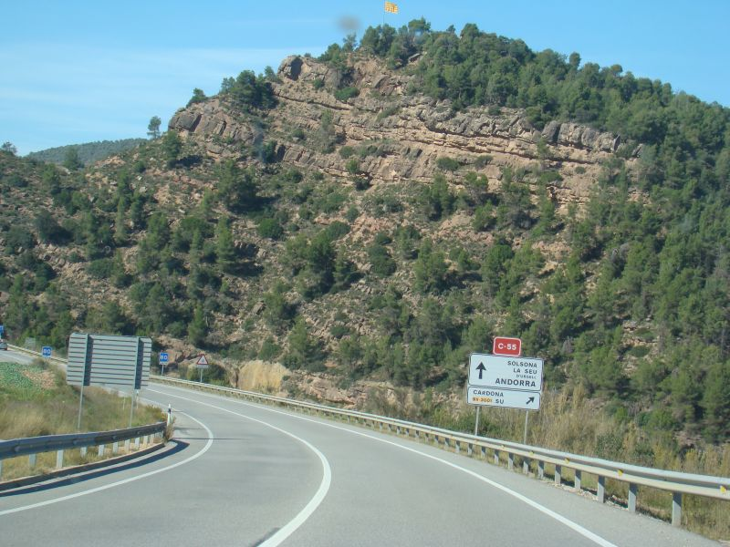 Road signs directing to Andorra