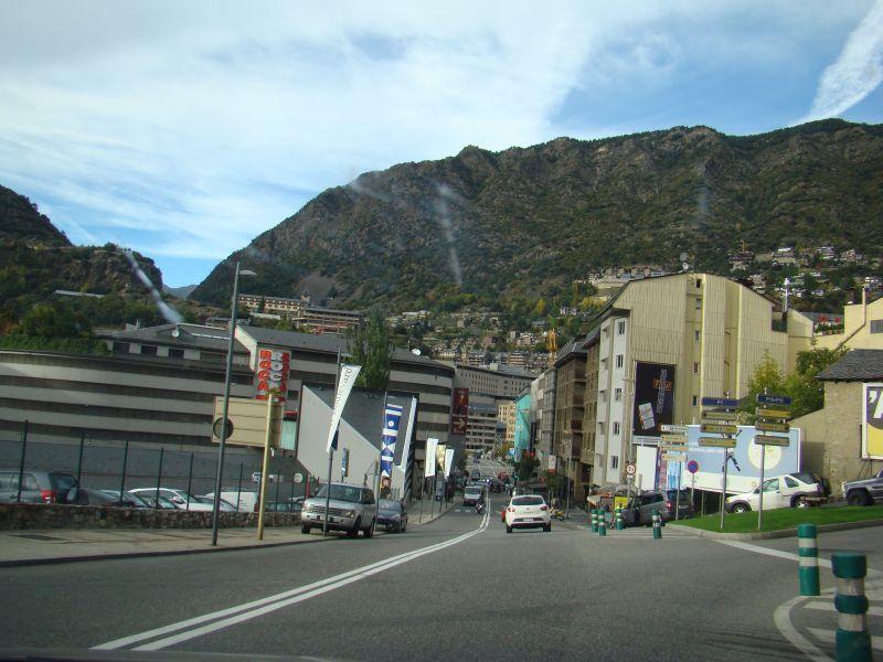 Entering Andorra La Vella