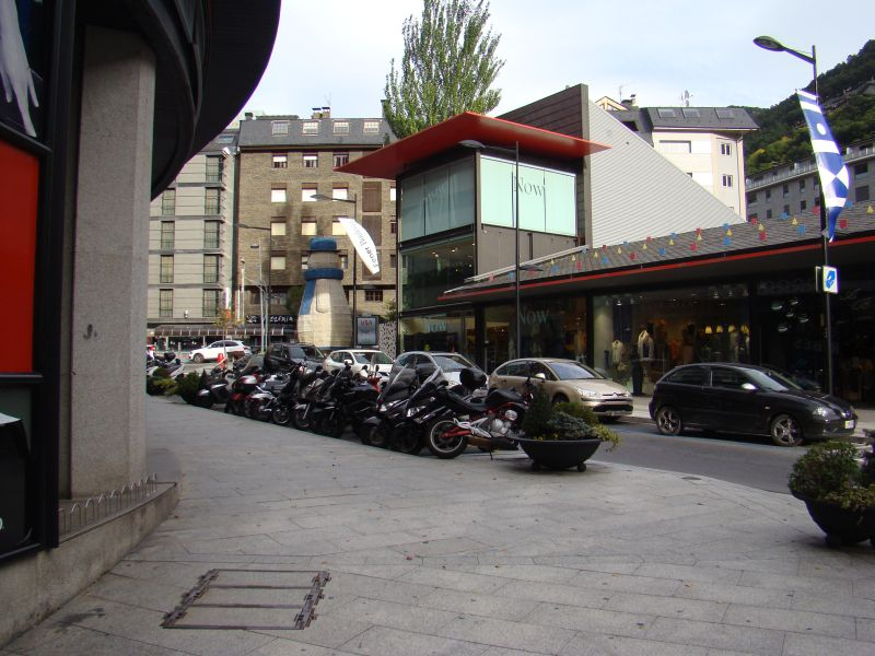 Scooters are popular in Andorra