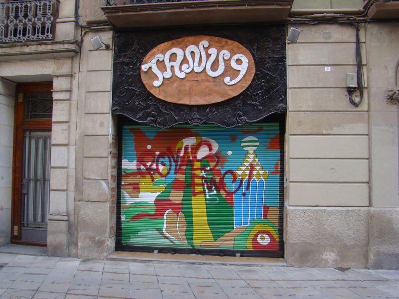 Some street art in Barcelona