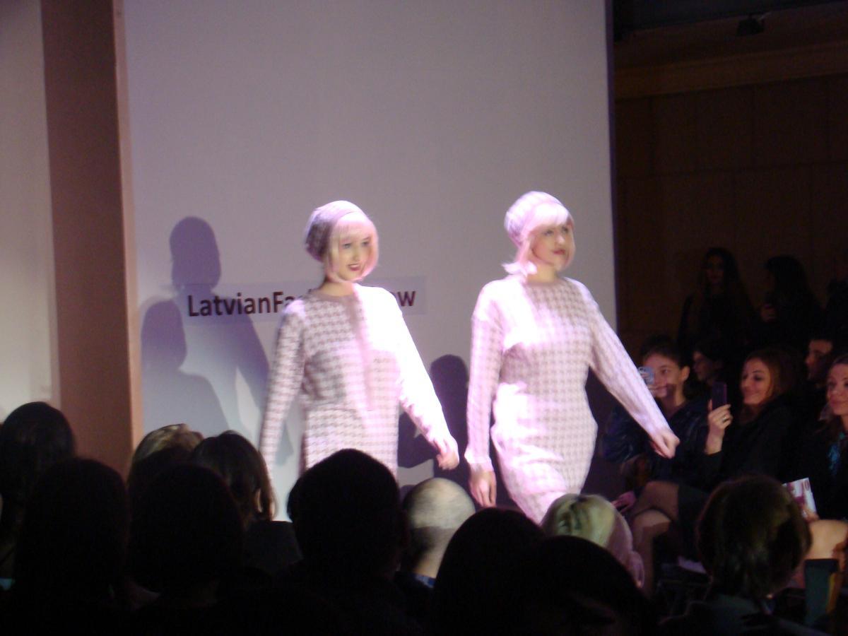Models at Latvian Fashion Show