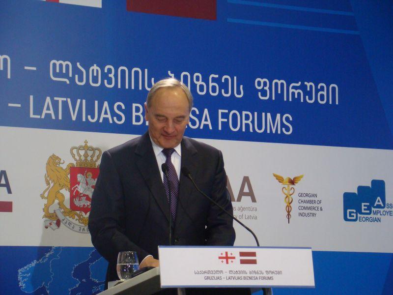 President of Latvia Andris Berzins