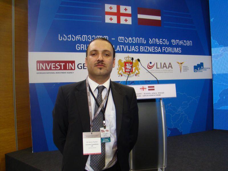 Author of this blog captured at Georgian Latvian business forum